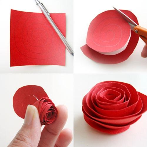 Розы из бумаги обычной своими руками