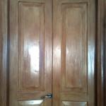 Реставрация деревянных дверей - тонируем