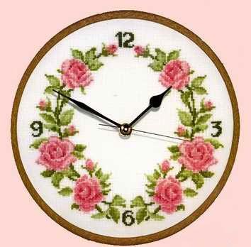 Часы с вышивкой своими руками