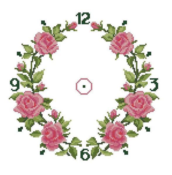 Схема для вышивания Часы с