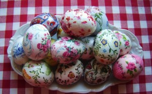 Декупаж пасхальных яиц своими руками