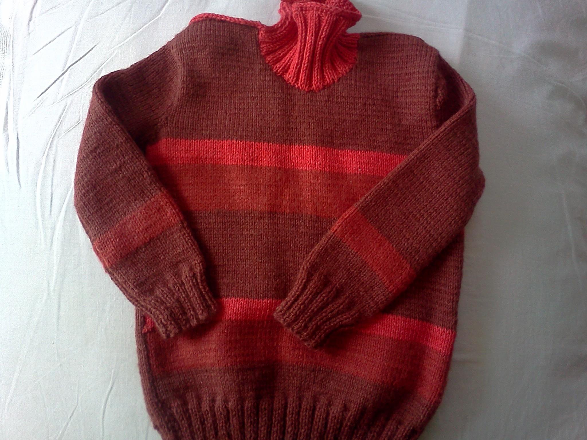 Красный свитер своими руками фото 952