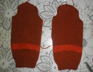 Детский свитер своими руками - вяжем рукава