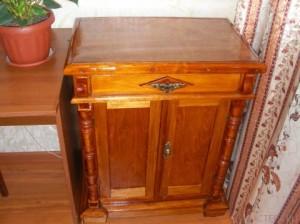 Реставрация деревянной мебели своими руками выполнена - прекрасный результат!