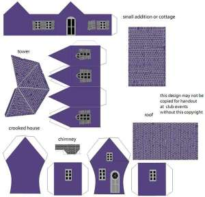 Домик из бумаги - схема