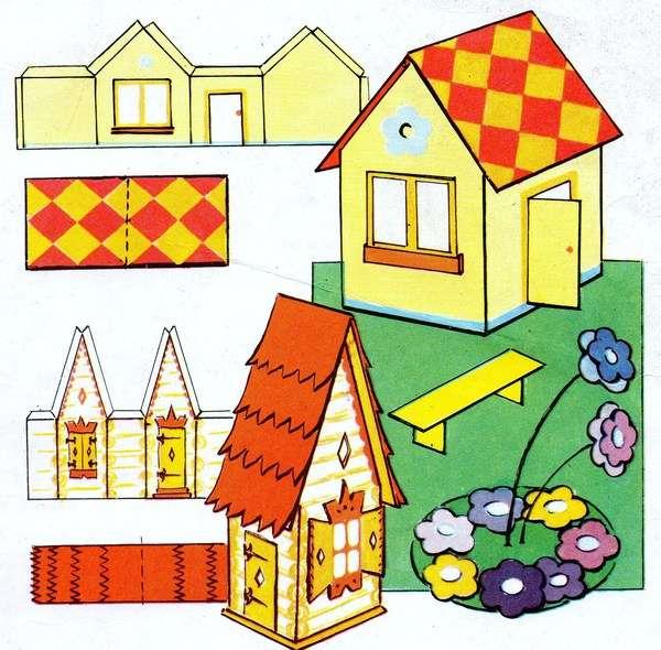 Урок-схема оригами домик из бумаги - Сезоны-года. рф 50