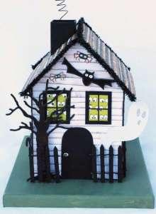 Домик к Хелоуину из бумаги своими руками