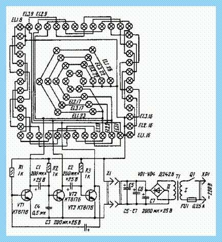 Схема гирлянды на светодиодах