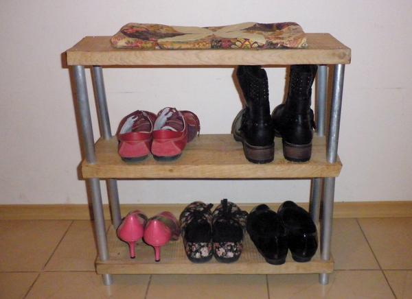 Как сделать полку для обуви из досок