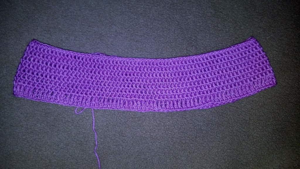 Вязаная юбка крючком - формирование пояса