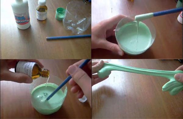 Умный пластилин своими руками с тетраборатом натрия