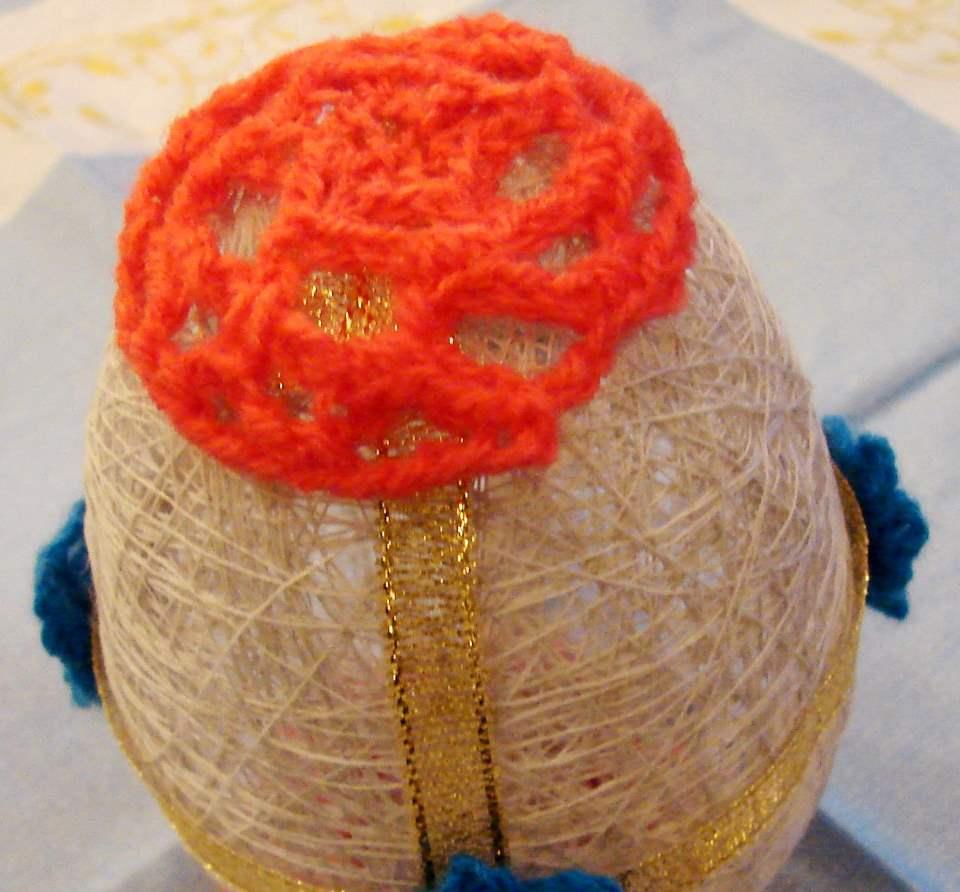 Пасхальное яйцо своими руками - закрепляем шапочку