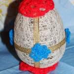 Как сделать пасхальное яйцо из ниток своими руками