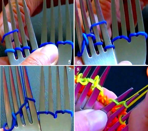 Завершения плетения отличается от предыдущих цепочек