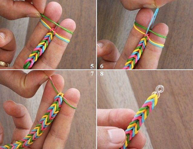 Как самой сделать браслет на резинках