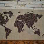 Карта мира из кофейных зерен своими руками